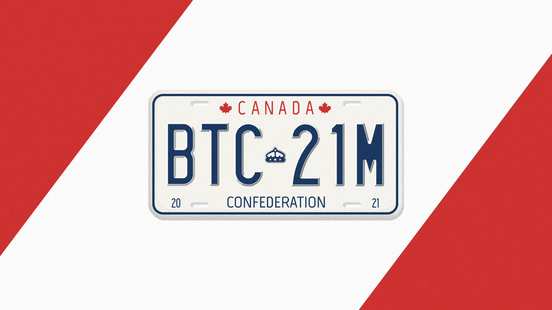 A Canadian license plate that has Bitcoin (BTC) and a reference to its 21 million supply for this ETF story.