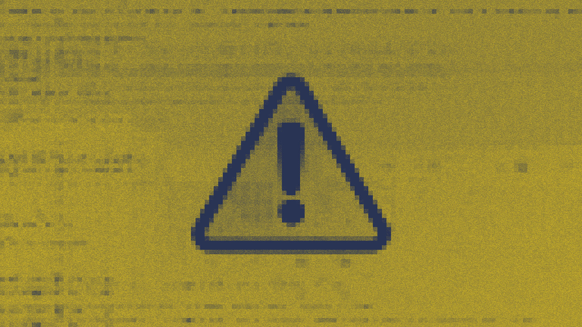 A warning sign showing a triangle with an exclamation mark inside in Roll brand colours
