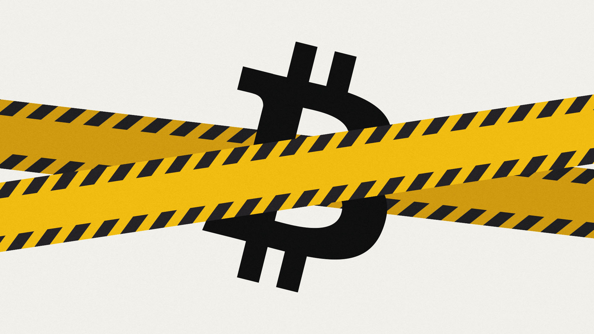 HSBC says no to Bitcoin-focused company like MicroStrategy, and the yellow tape in this image represents that sentiment.