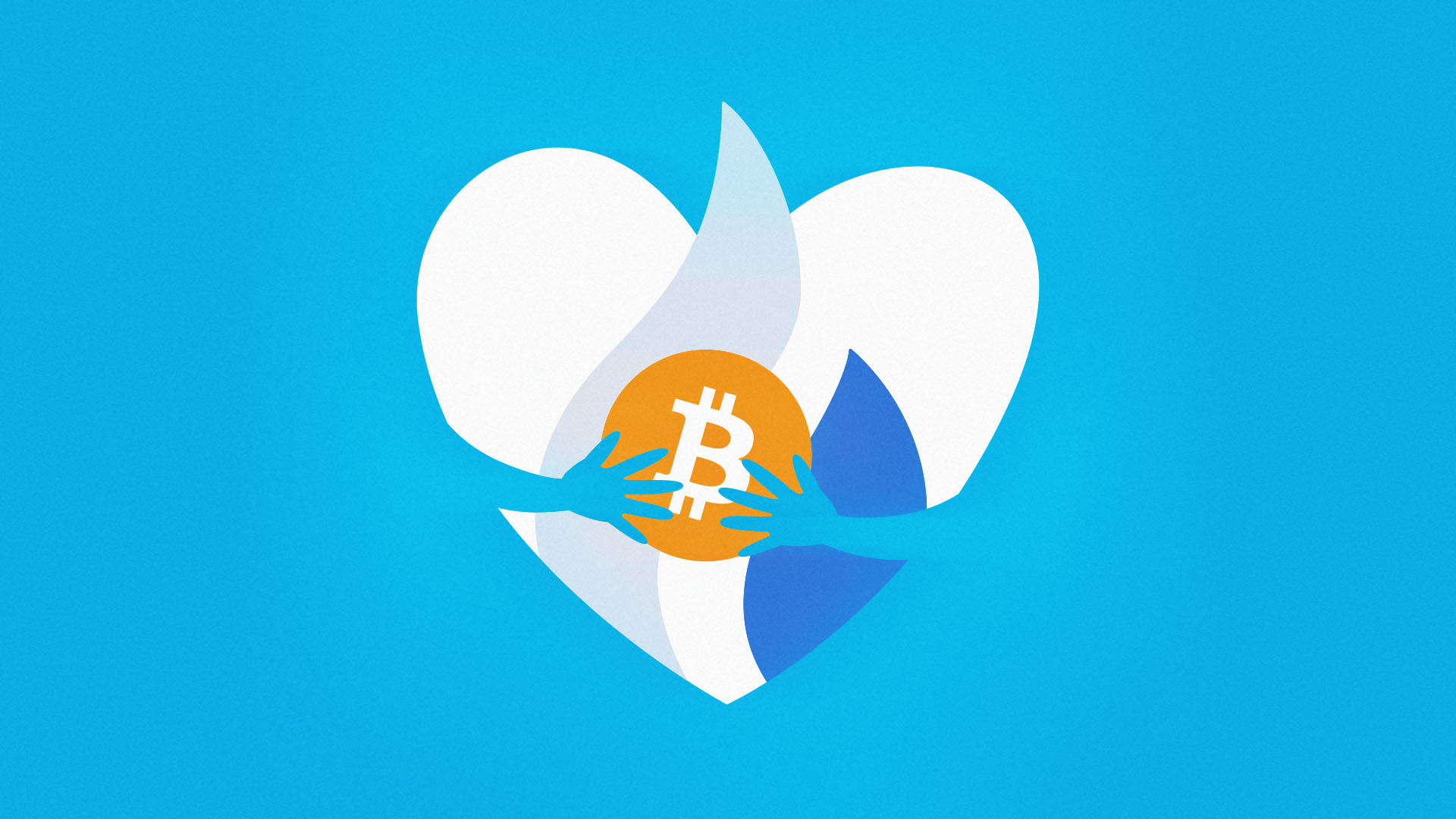 This is the UNICEF heart hugging Bitcoin because Huobi just donated 7 BTC.