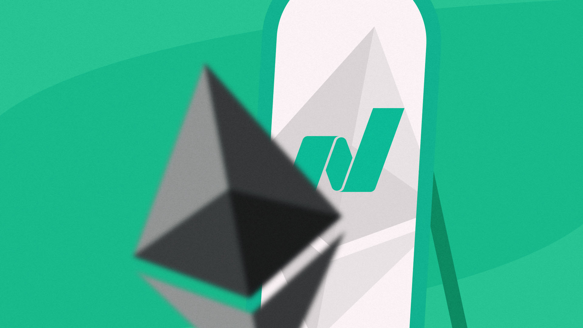 Ether Allen is a furniture stock that's captured the attention of crypto traders because of its similar symbol, ETH. And this image has both the NASDAQ symbol and Ethereum's