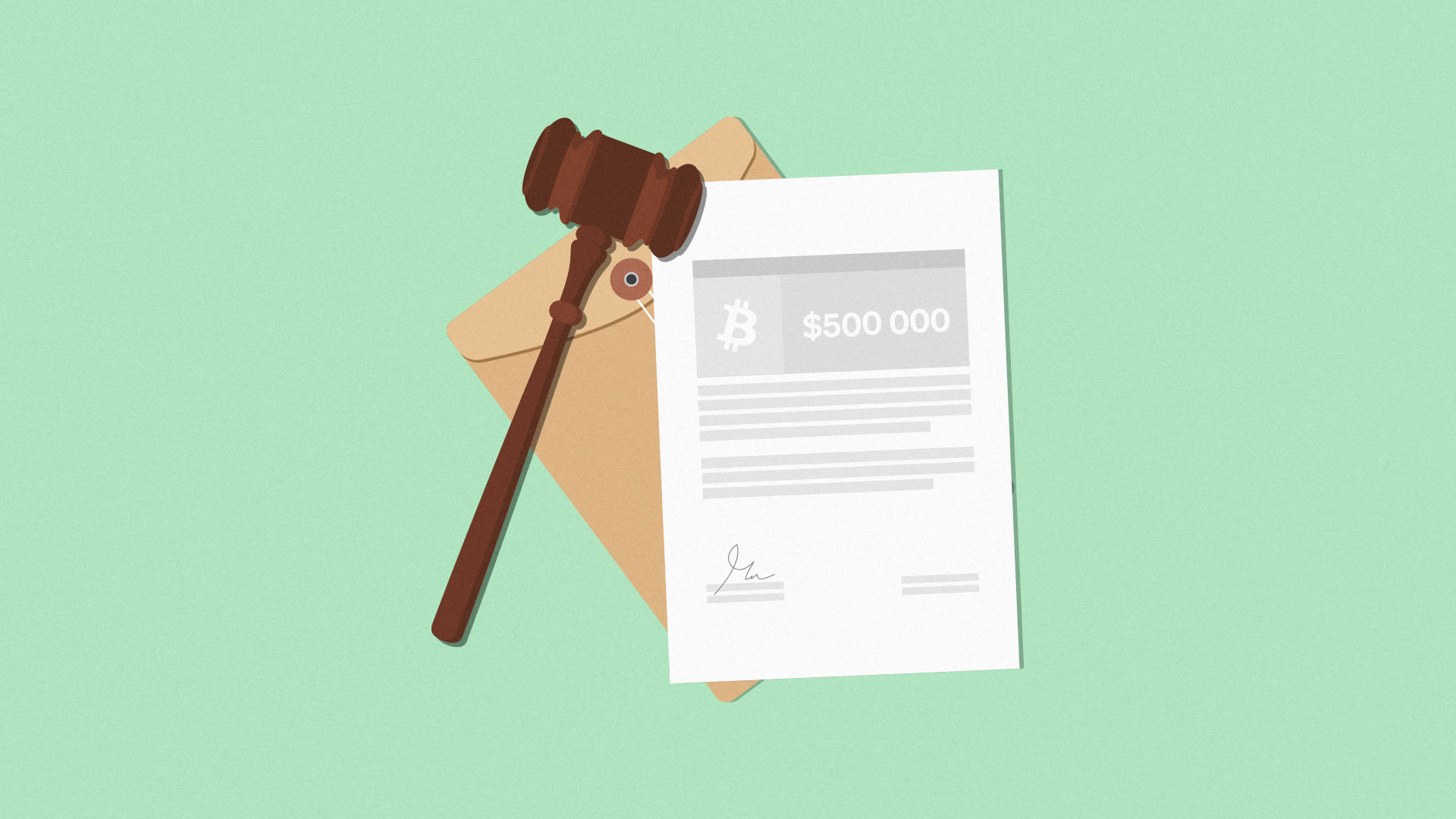 A judge's gavel and a document to show that Canada's Supreme Court just ruled on the matter of a Bitcoin buyer who never received their Bitcoin.