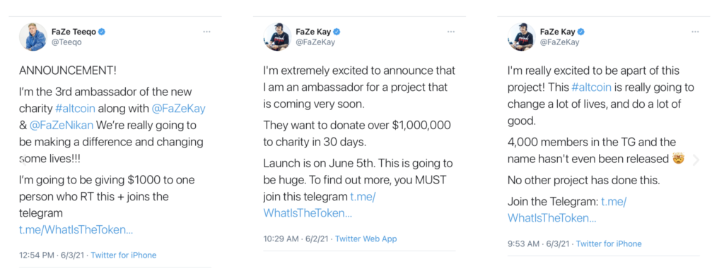 """FaZe Clan influencers claimed phoney charity crypto Save The Kids would """"change lives and do a lot of good."""" Then came the rug pull."""